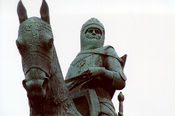 The statue of Robert the Bruce at Bannockburn, Stirling