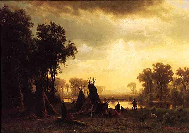 Tábor Malheraz - Stránka 2 Bierstadt_Albert_An_Indian_Encampment_1861