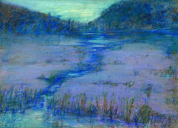 Marshlands at Sundown: 1908