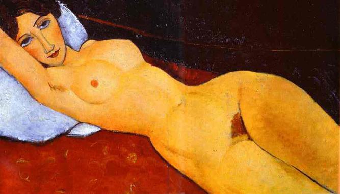 Αποτέλεσμα εικόνας για Reclining Nude With Blue Cushion by Amedeo Modigliani