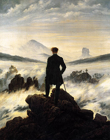 The Wanderer above the Mists (Fog): 1817-18
