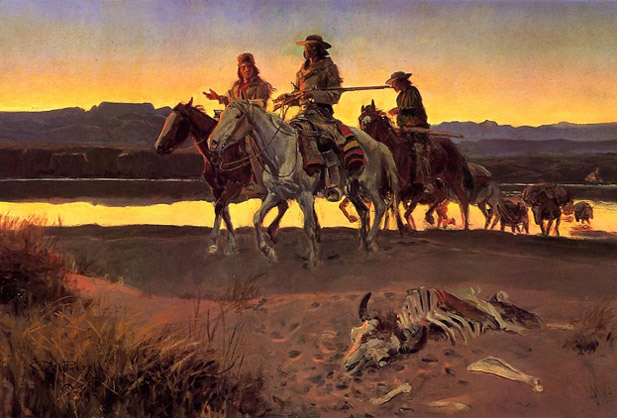 Charles M Russell WESTERN ART POSTER Horse Thieves