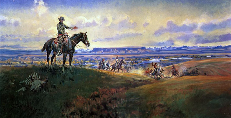 PW0 PRINT IMAGE PHOTO Charles M Russell NEW WESTERN ART POSTER Slick Rider