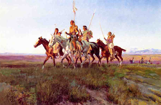 WESTERN ART POSTER Carson/'s Men Charles M Russell NEW