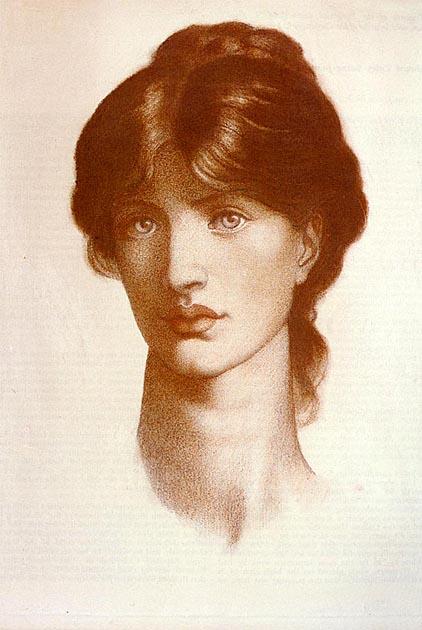 Rosa - goblen galerie - Pagina 5 Rossetti_Dante_Gabriel_Study_For_A_Vision_Of_Fiammetta
