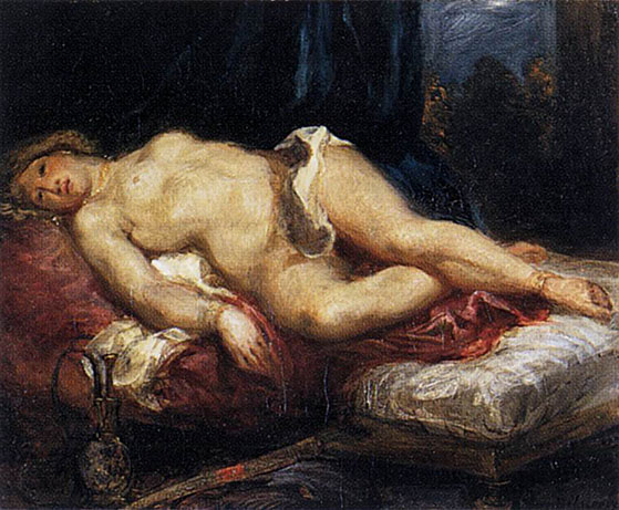 female nude painting Reclining