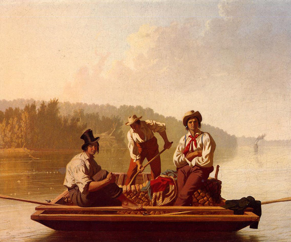Boatmen on the Missouri: 1846