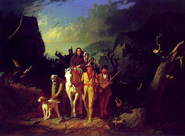 Daniel Boone Escorting Settlers Through the Cumberland Gap: 1851