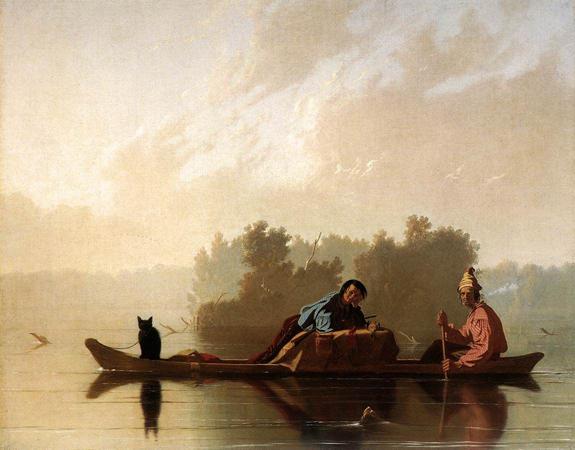 Fur Traders Descending the Missouri: 1845
