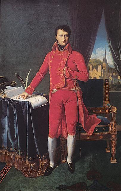 Le tableau de l'Empereur que je préfère. Ingres_Bonaparte_as_First_Consul
