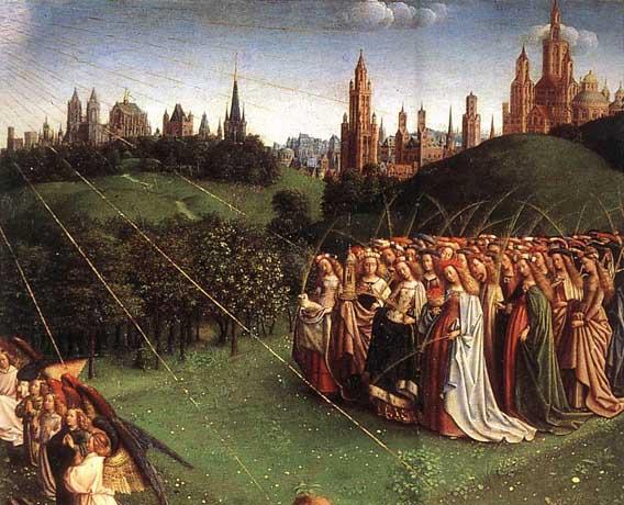 Ghent Altarpiece Lamb Jan van Eyck