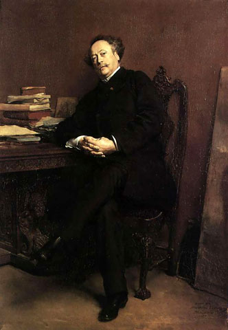 Portrait of Alexandre Dumas, Jr: 1877