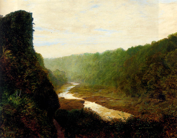 Winding River Drawing With a Winding River 1868