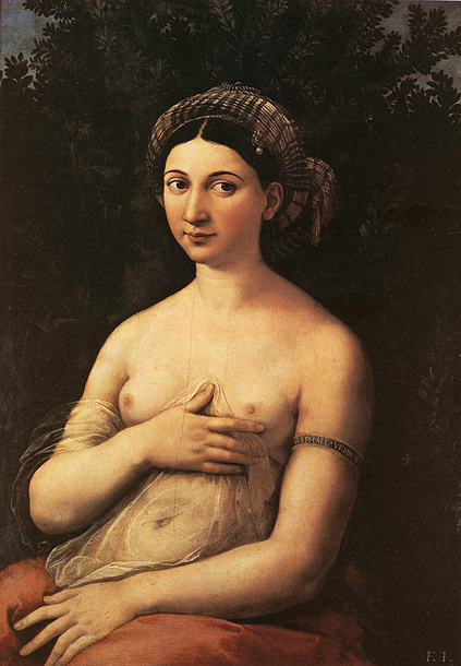 Raphael Portrait of a Nude Woman (Fornarina) c1518 Bella Ladies Thong Bikini Underwear (S xl)