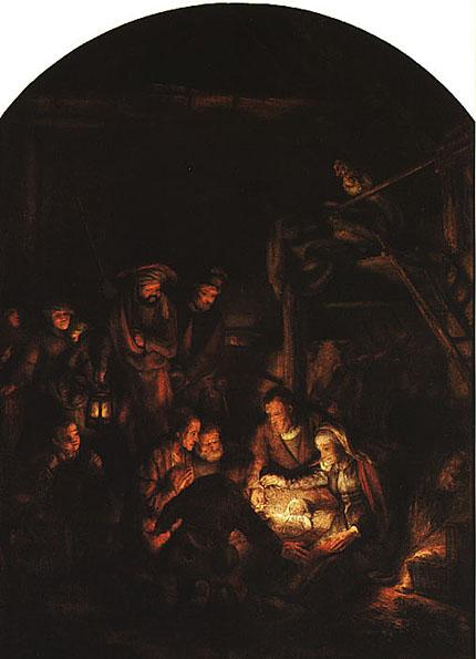 لوحات عالمية : رامبرانت Adoration_of_the_Shepherds