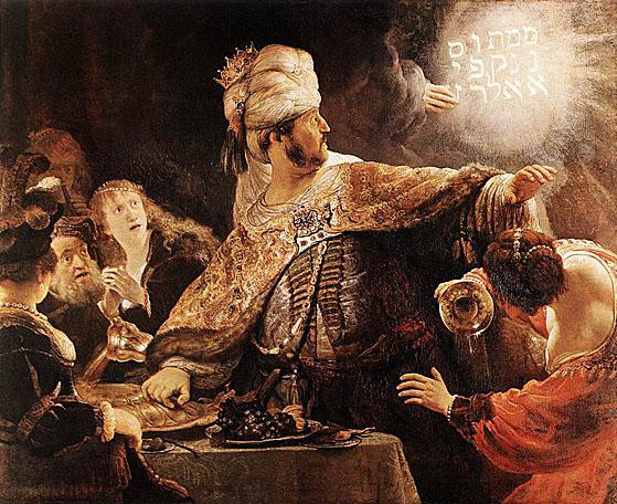 لوحات عالمية : رامبرانت Belshazzars_Feast
