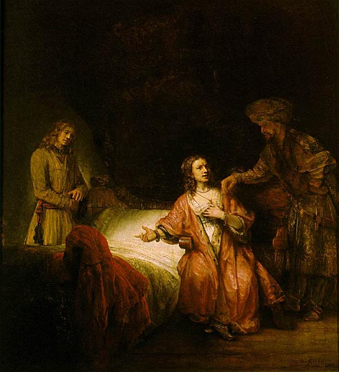 لوحات عالمية : رامبرانت - صفحة 3 Joseph_Accused_by_Potiphars_Wife