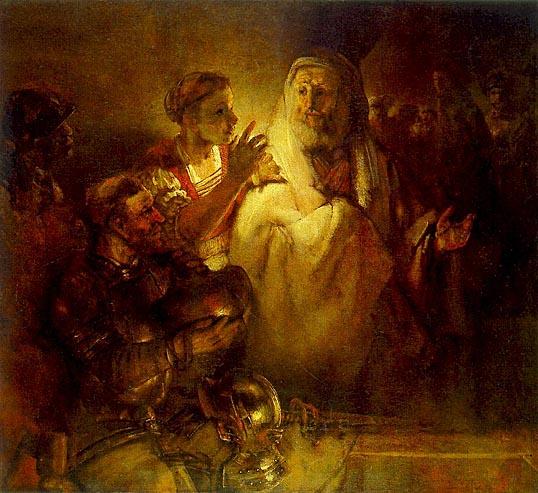 لوحات عالمية : رامبرانت - صفحة 3 Peter_Denouncing_Christ