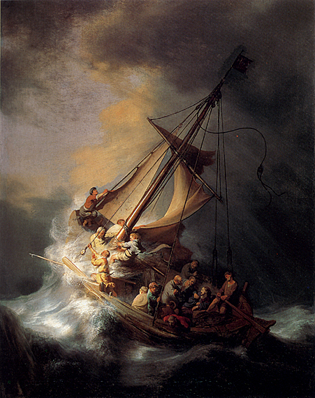 لوحات عالمية : رامبرانت - صفحة 2 Rembrandt_Christ_In_The_Storm_On_The_Sea_Of_Galilee