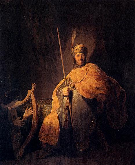 لوحات عالمية : رامبرانت - صفحة 3 Rembrandt_David_Playing_The_Harp_To_Saul