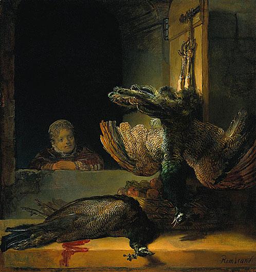 لوحات عالمية : رامبرانت - صفحة 3 Rembrandt_Dead_peacocks