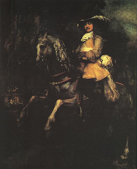 لوحات عالمية : رامبرانت - صفحة 3 Rembrandt_Frederick_Rihel_on_Horseback