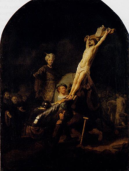 لوحات عالمية : رامبرانت - صفحة 3 Rembrandt_The_Elevation_Of_The_Cross