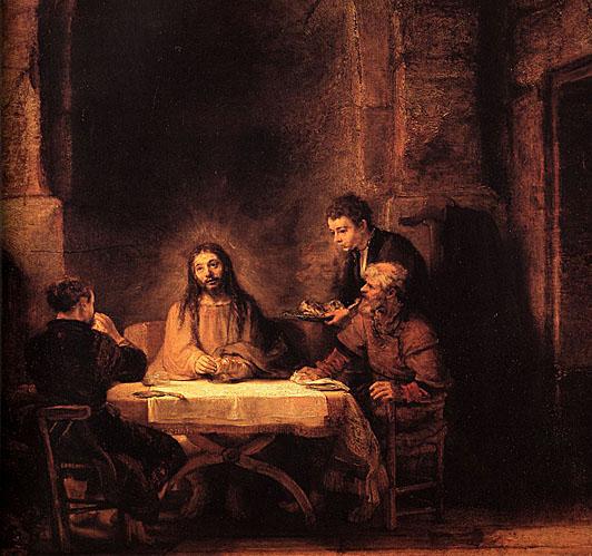 لوحات عالمية : رامبرانت Supper_at_Emmaus