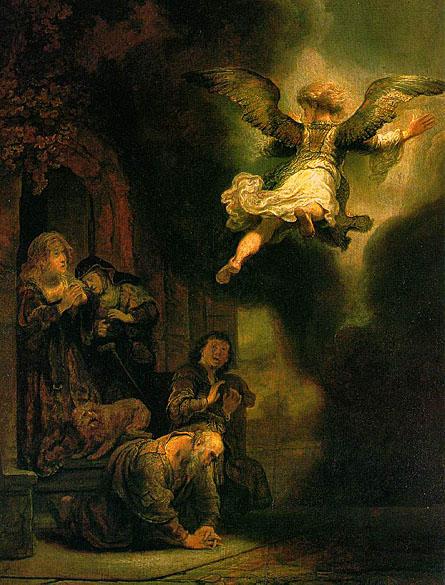 لوحات عالمية : رامبرانت The_Archangel_Leaving_the_Family_of_Tobias