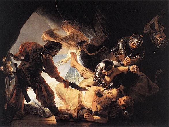 لوحات عالمية : رامبرانت The_Blinding_of_Samson