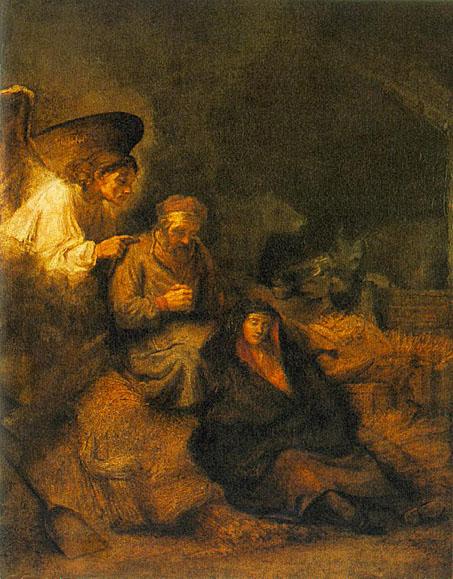 لوحات عالمية : رامبرانت The_Dream_of_St_Joseph