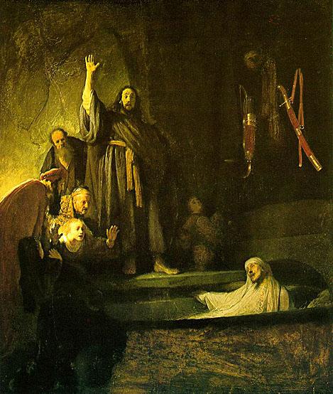 لوحات عالمية : رامبرانت The_Raising_of_Lazarus