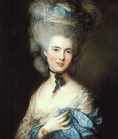 Portrait of a lady in blue 1777 79
