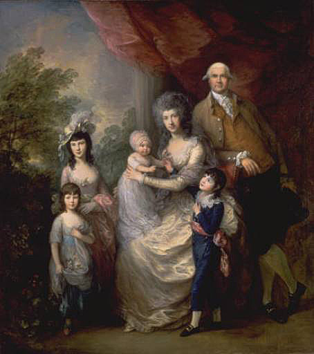 Group Portraits By Gainsborough Are Relatively Rare This Large Example Shows The London Merchant James Baillie 1737 1793 With His Wife Colin Campbell
